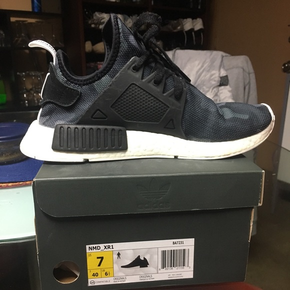 e7e1426ee adidas Other - Adidas NMD XR1 Duck Camo Size 7 with shoe box